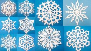 Красиві сніжинки з паперу