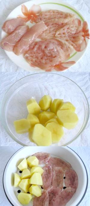 Фото - Нарізане куряче Філе з картоплею