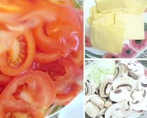Фото - Нарізані помідори, печериці та сір